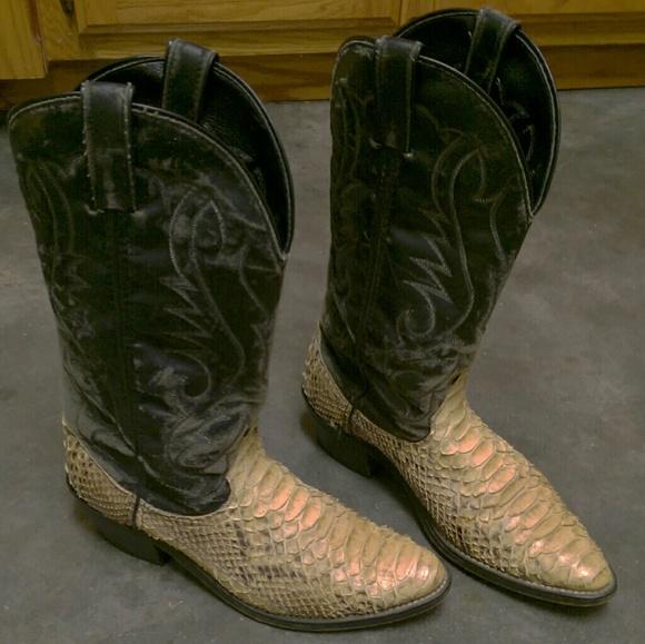 0cd20de82e9 Snake print cowboy western boots
